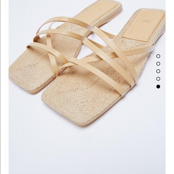 Zara leather Sandals NWT